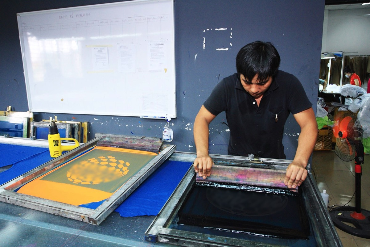 Screenprinting in Vietnam
